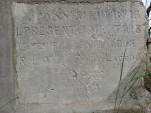 L'PASSE J L'OUBLIEL'PRESENT JE ME TAISL'AVENIR me A DIRERLV Par F.NOT LACROIX --x-- 1859