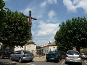 Pouzolles - Croix de Mission - Rue Martial Calas - Rue de l'Eglise (3)
